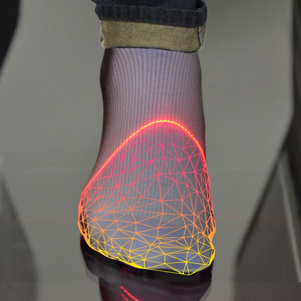 Scansione con il foot scanner 3D RS-EasyFit
