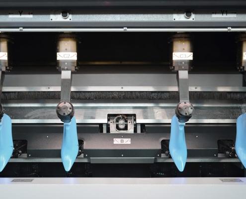 Dettaglio della macchina per la finitura della forma SDF4 HS