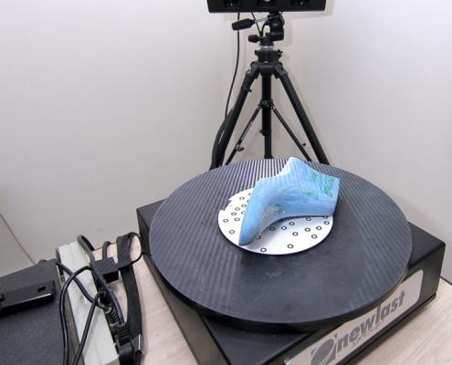 Digitalizzazione di una forma con Digiscan.SL/L