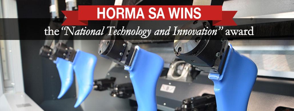"Horma SA vince il concorso ""national Technology and innovation"""