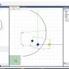 Schermata del Software Hinge Drilling Module - Disegno virtuale dello snodo