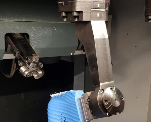 Dettaglio di una macchina lavorazione forma SDF
