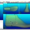 Schermata del Software Hinge Drilling Module - Posizionamento dei fori per lo snodo