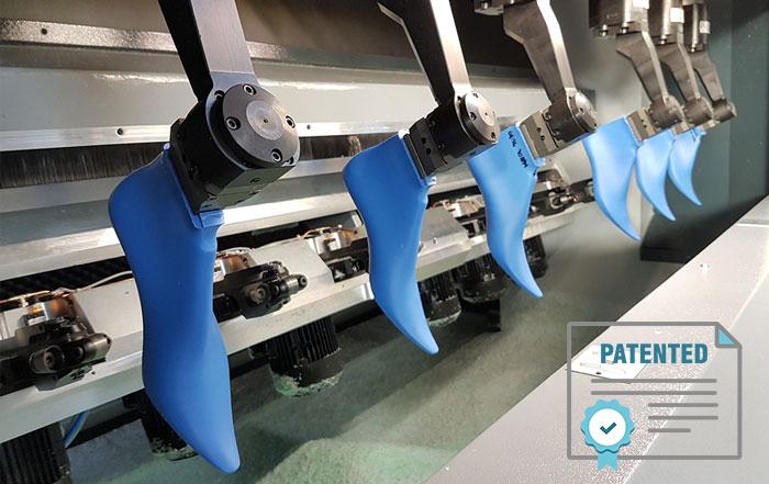 Tecnologia SDF per la lavorazione delle forme per calzature con brevetto